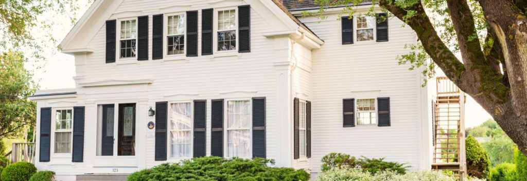 Traditional clapboard house in Chatham Massachusetts USA